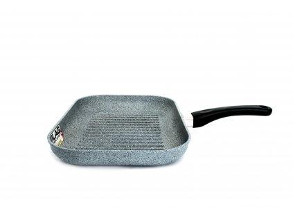 Grilovací pánev PROTITAN linie Granit, šedý, neindukční, 25 x 35 x 4 cm  České titanové nádobí s granitovou úpravou PROTITAN linie GRANIT