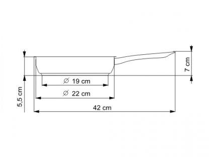 Pánev s kovovou rukojetí KOLIMAX KLASIK 22 cm