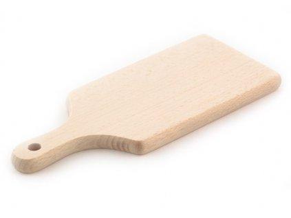 Dřevěné kuchyňské prkénko KOLIMAX - hranaté s úchytem, 30,5 x 14 x 1,6 cm
