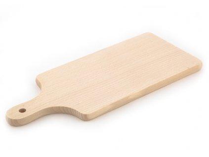 Dřevěné kuchyňské prkénko KOLIMAX - hranaté s úchytem, 39 x 15,5 x 1,6 cm