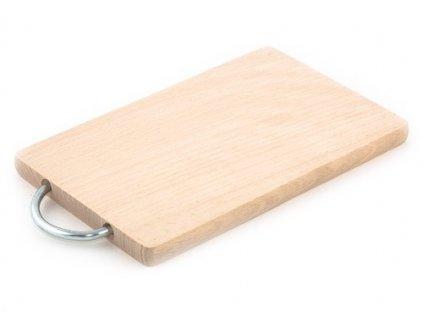 Dřevěné kuchyňské prkénko KOLIMAX - hranaté s kovovým držadlem, 23 x 14,5 x 1,6 cm