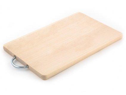 Dřevěné kuchyňské prkénko KOLIMAX - hranaté s kovovým držadlem, 33,5 x 18 x 1,6 cm