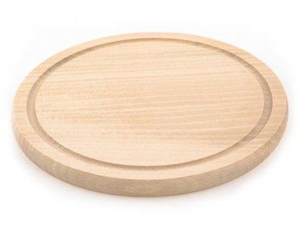 Dřevěné kuchyňské prkénko KOLIMAX - kulaté, 22 x 1,6 cm