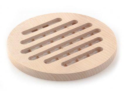 Dřevěné kuchyňské prkénko KOLIMAX - kulaté s otvory, 19,5 x 1,6 cm
