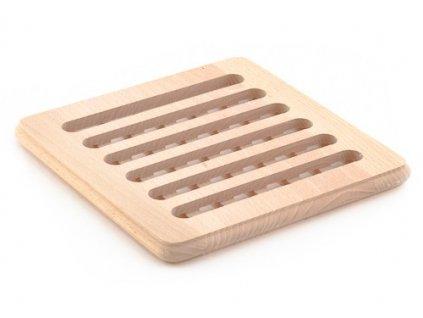 Dřevěné kuchyňské prkénko KOLIMAX - hranaté s otvory, 19 x 19 x 1,6 cm