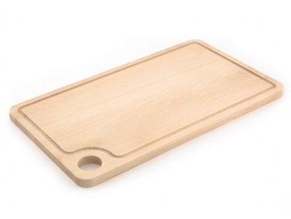 Dřevěné kuchyňské prkénko KOLIMAX - hranaté s otvorem na uchopení, 42 x 20 x 1,6 cm