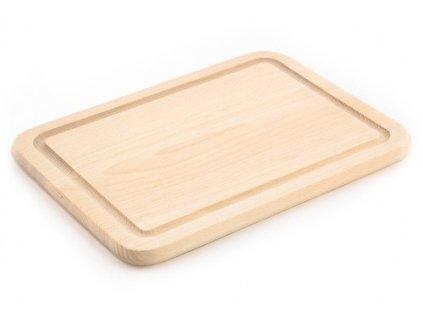 Dřevěné kuchyňské prkénko KOLIMAX - hranaté, 30,5 x 23 x 1,6 cm