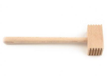Dřevěná palička na maso KOLIMAX - hranatá, 26 cm