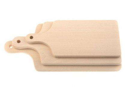 Sada dřevěných kuchyňských prkének KOLIMAX - hranaté s úchopem, 3ks