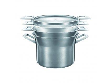Sada nerezového nádobí s hliníkovým jádrem CASTEY ARTIC, indukční, průměr 20 cm, 4 ks