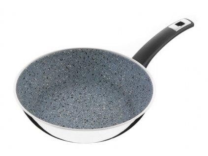 Pánev s rukojetí KOLIMAX FLONAX COMFORT - nízká, šedá granitec, 26 cm