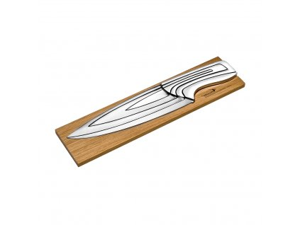 Designová sada nožů na bambusové základně DÉGLON Meeting, 4 ks