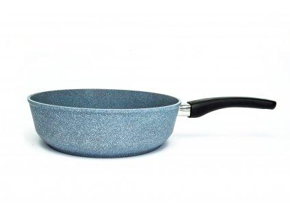 Pánev vysoká bez poklice PROTITAN linie GRANIT - šedá, indukční, průměr 24 cm, výška 7 cm