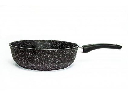 Pánev vysoká PROTITAN linie Granit, černá, indukční, 24 x 7 cm