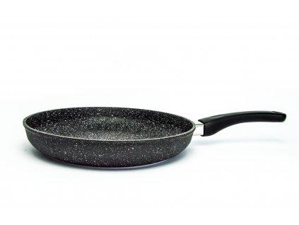 Pánev na omelety bez poklice PROTITAN linie GRANIT - černá, indukční, průměr 28 cm, výška 5cm