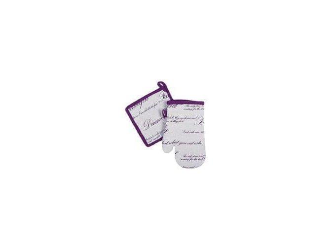 28502 fialová chňapka a podložka