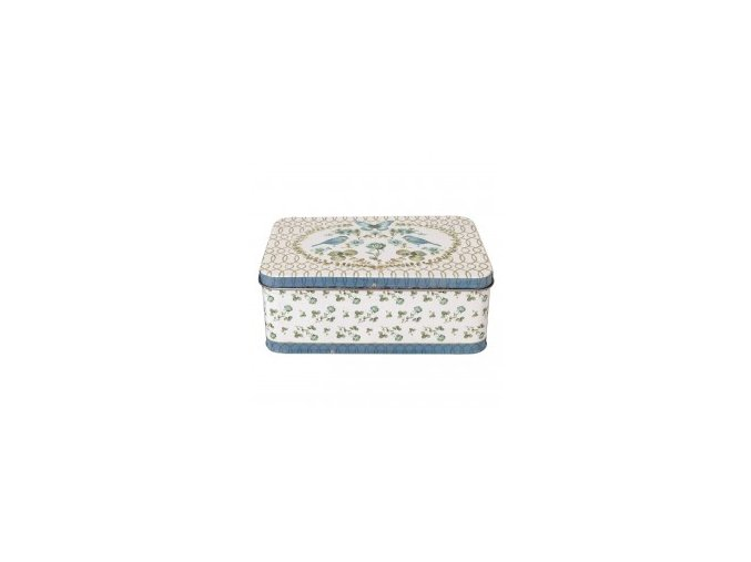 plechova krabicka s vikem a ptacky 22159 cm