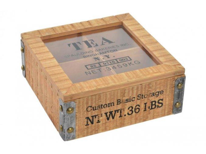 rustic krabička na čaj
