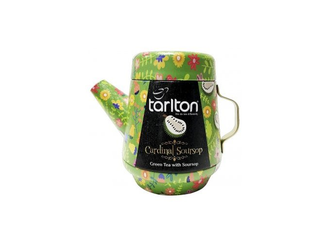 37787 tarlton tea pot cardinal soursop green tea plech 100g