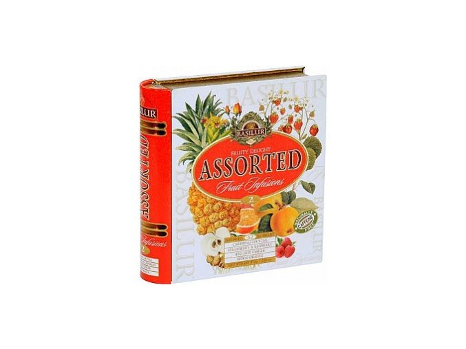 28910 basilur fruit infusions book fruity delight plech 32x1 8g