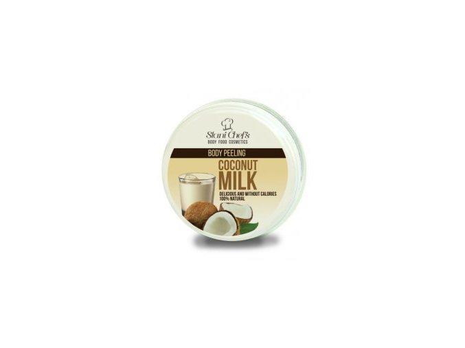 peeling coconut milk