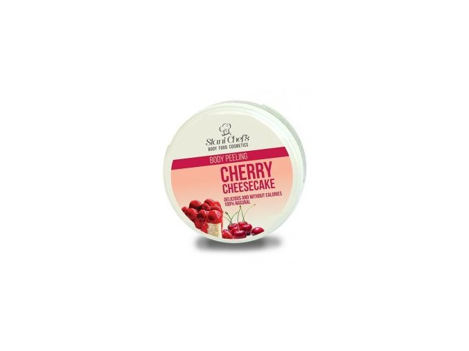 peeling cherry cheesecake