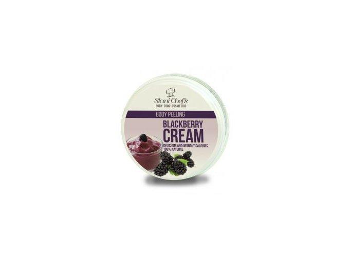 peeling blackberry cream