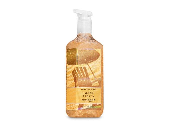 čistící island papaya bath and body works
