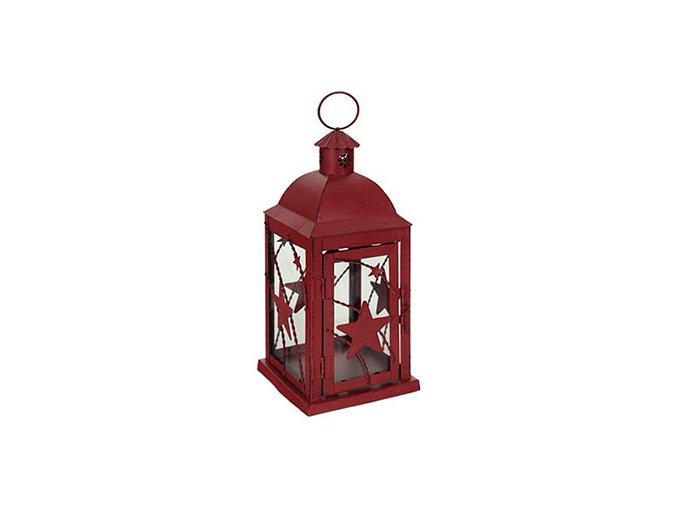 lucerna vánoční červená