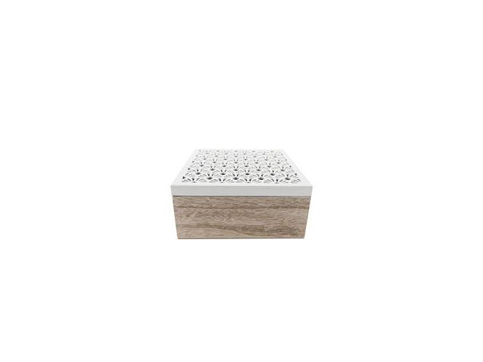 krabička na čaj bíle víčko