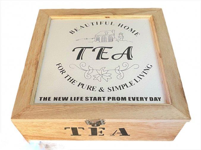 krabička na čaj z naší kredence