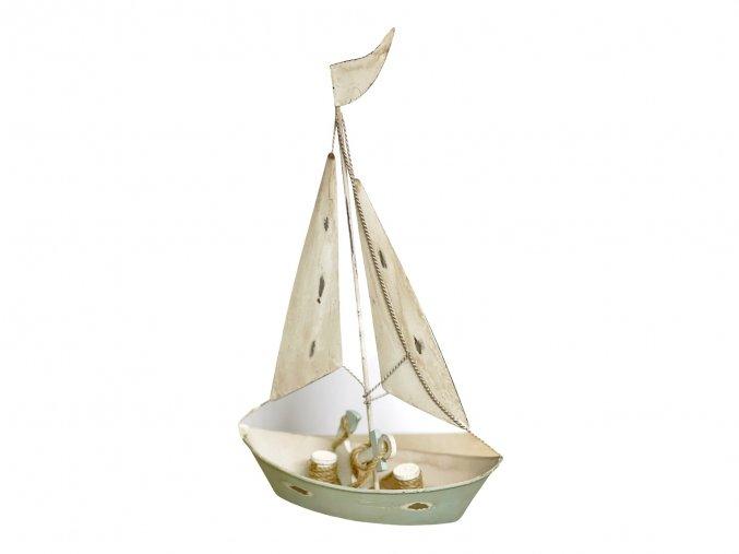 plachetnice kovový dekorace