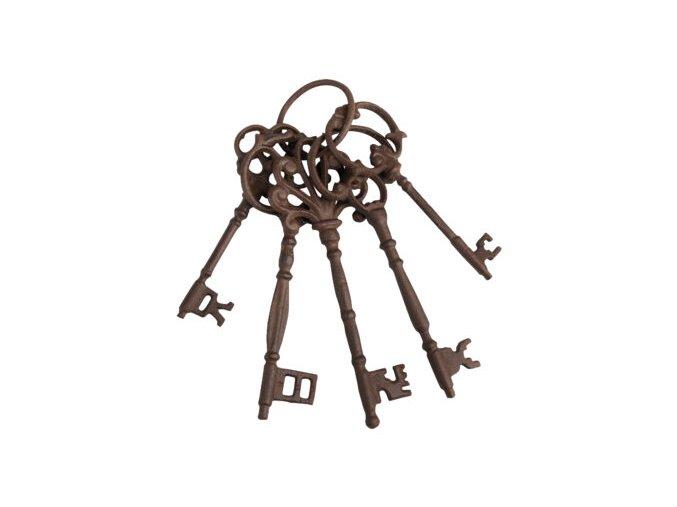 klíče, litinová dekorace