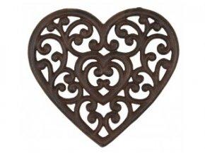 litinova podlozka srdce 2120 cm