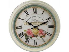 hodiny s růží