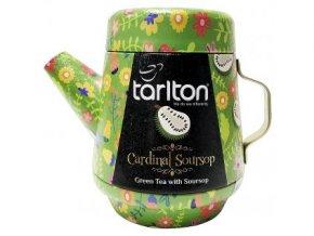 37787 tarlton tea pot cardinal soursop green tea plech 100g