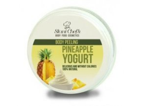 peeling pineapple yogurt