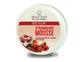 peeling strawberry mousse