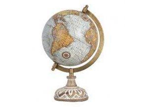 Globus světle modro žlutý , dekorace