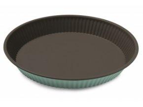 plechová forma na koláč 28 cm zelená