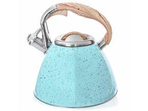 čajník relief modrý