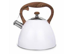 čajník bílý wooden