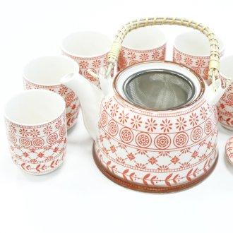 Čajová souprava červená