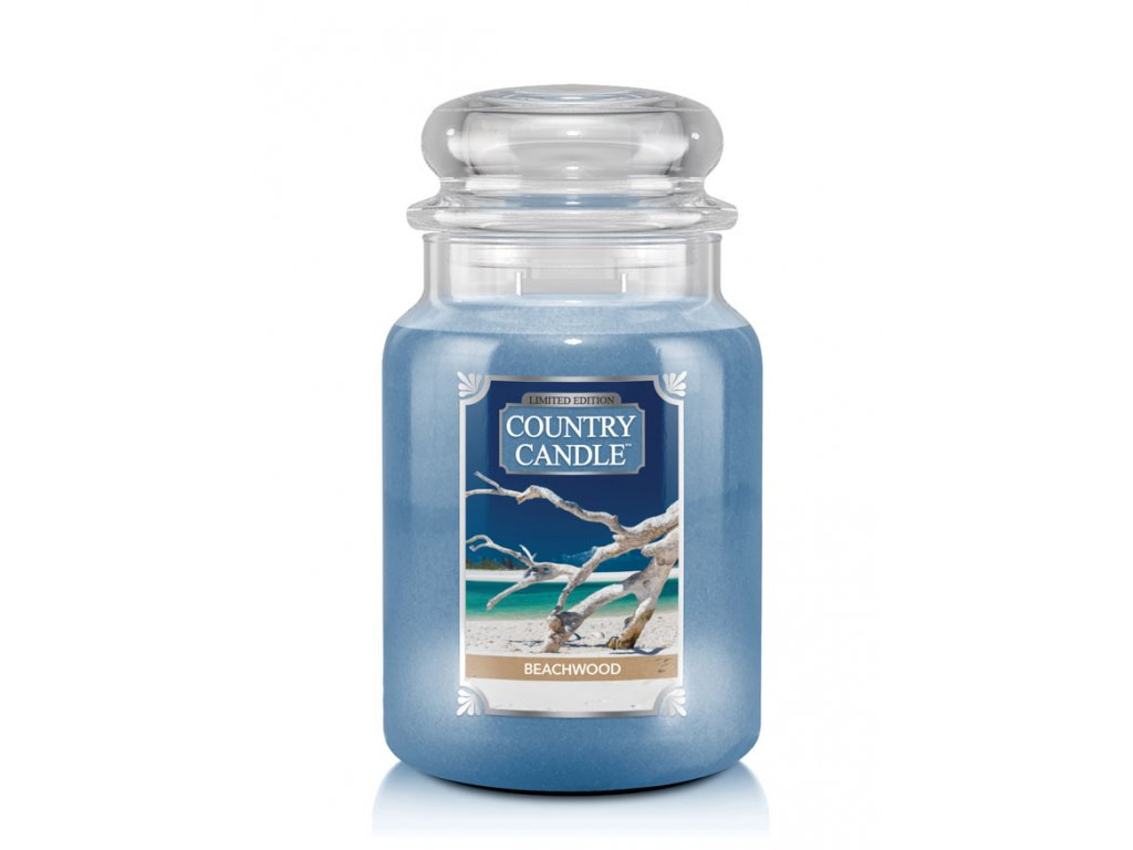 Vonná svíčka Country Candle Beachwood 652g