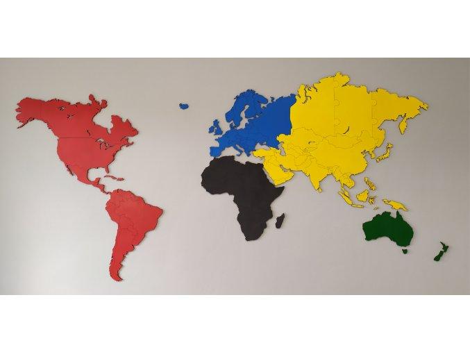 Dřevěné puzzle - svět