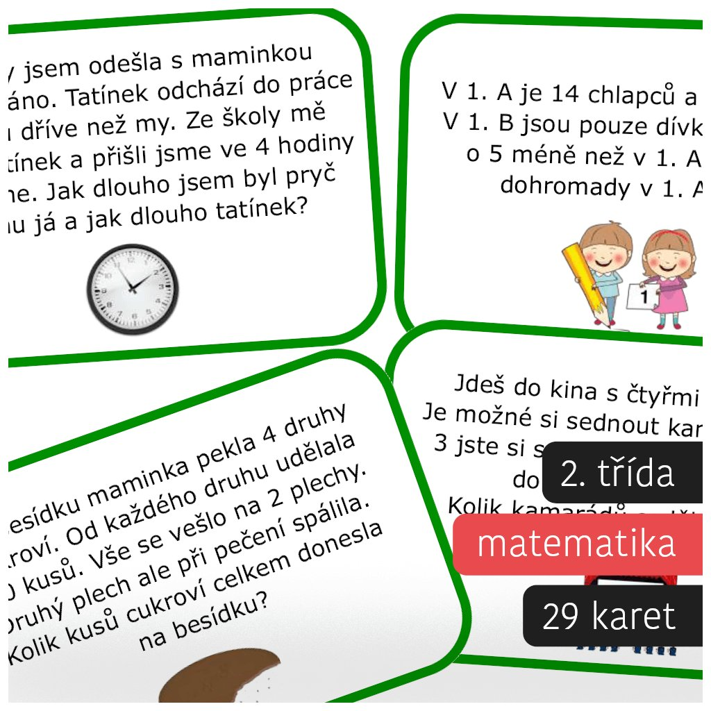 slovni ulohy 2 trida