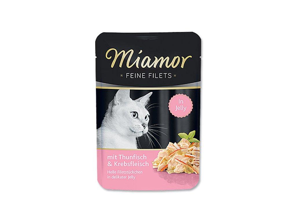 Kapsička MIAMOR Filet tuňák + krab 100 g