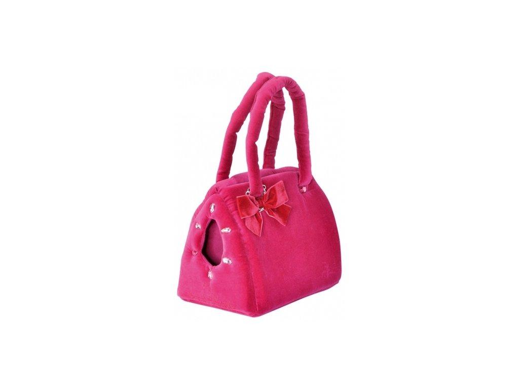 Elegantní taška samet ciklámenová M