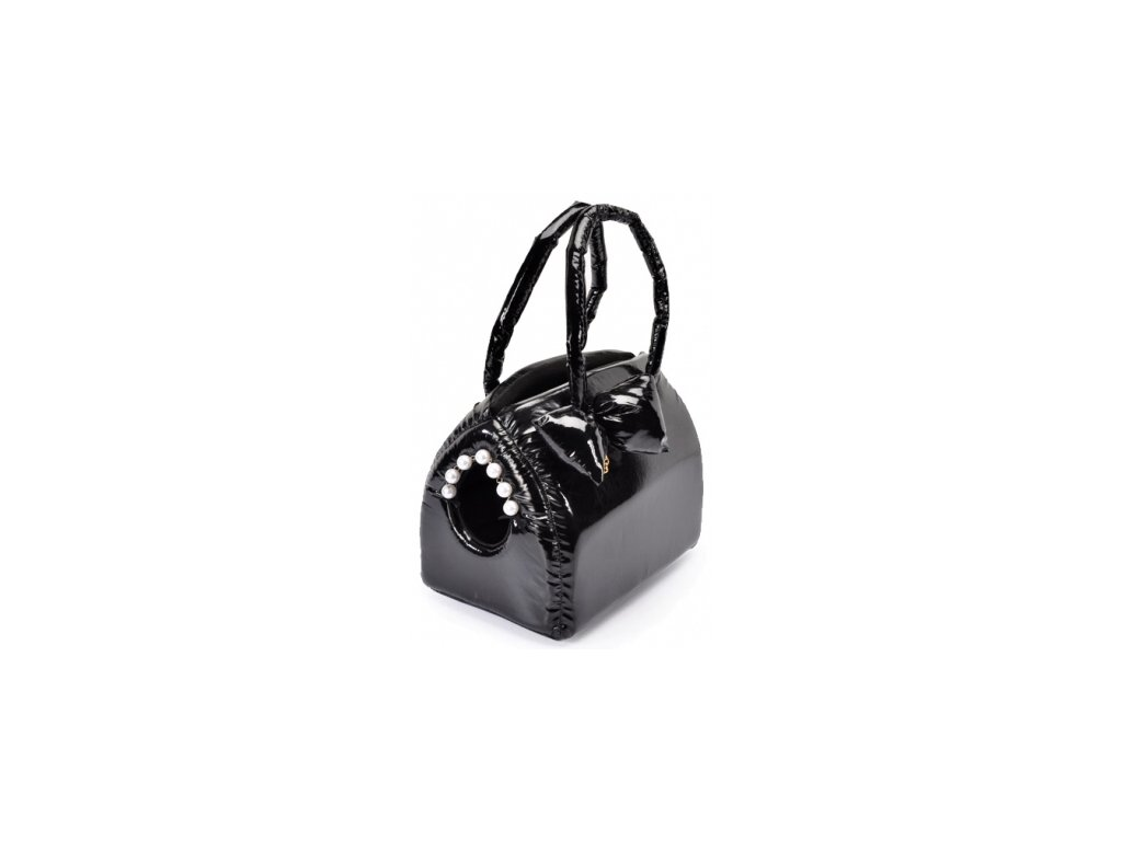 Elegantní taška latex černá