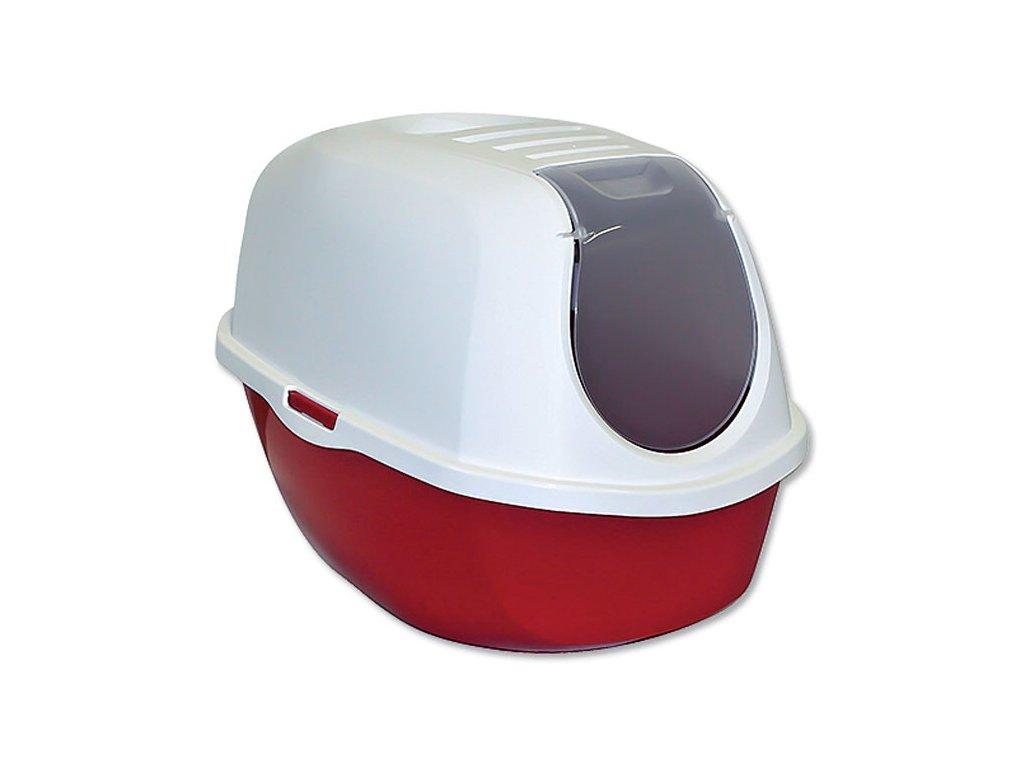Toaleta MAGIC CAT s krytem červená